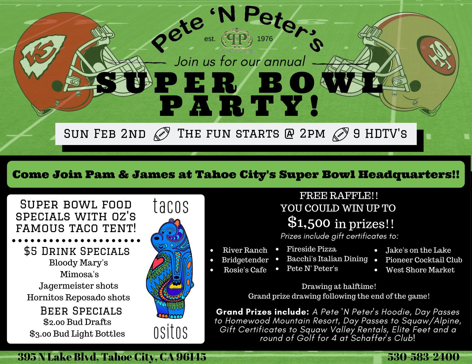 Pete 'n Peter's 2020 Super Bowl Party